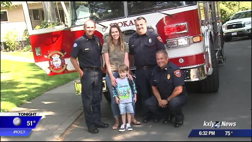 Saving Nolan: Boy gets first day of school surprise from Spokane Fire Department