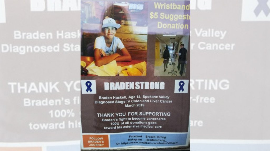 Community rallies to help Spokane Valley 14-year-old battling stage 4 cancer