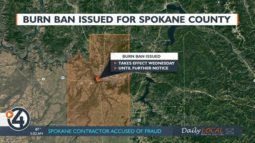 Burn ban issued for Spokane County: Here's what you need to know