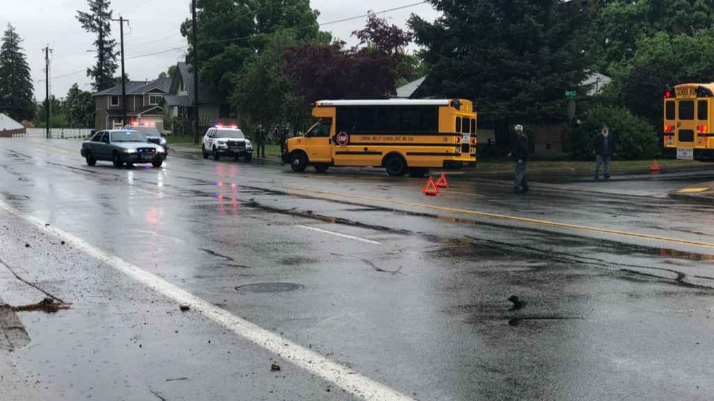School bus hits cyclist in Spokane Valley