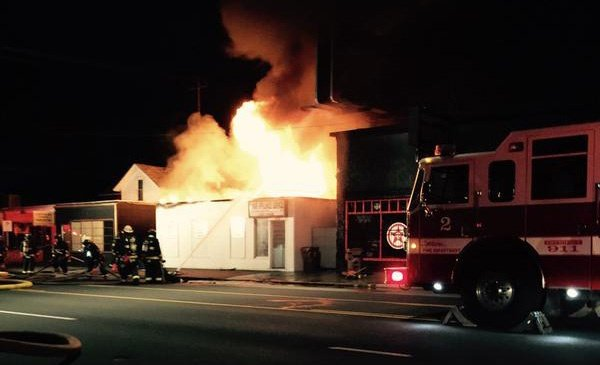 Man arrested for arson for two-alarm appliance store blaze