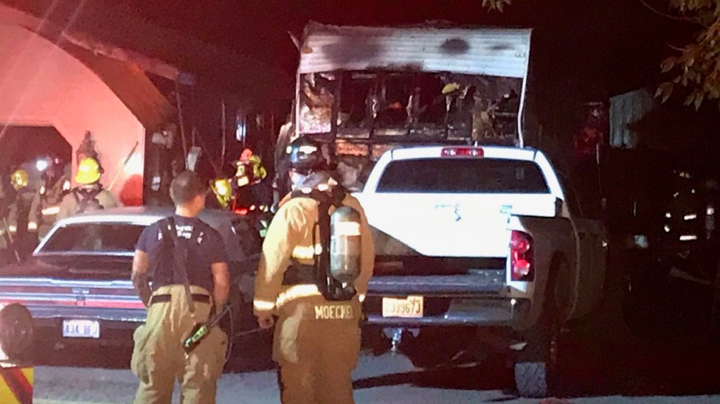 Greenacres RV and garage burned in early morning fire