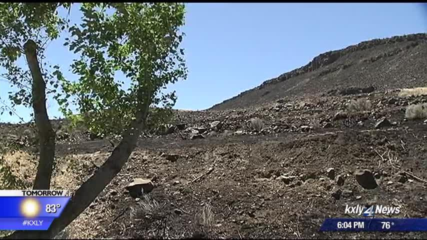 Campers, residents watch as Ryegrass Coulee fire races toward RV park