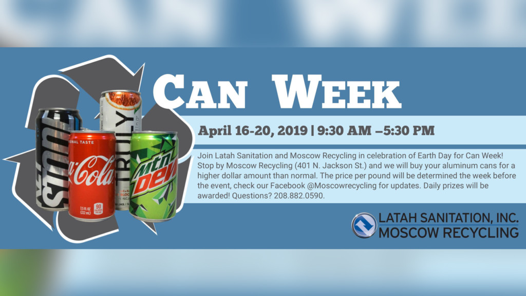 Turn your cans in to Moscow Recycling for more money this week