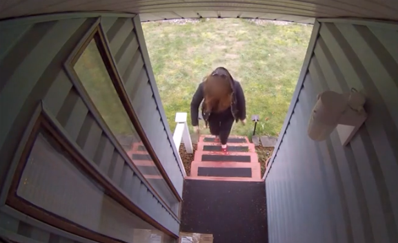 Homeowner gets sweet revenge on package thief
