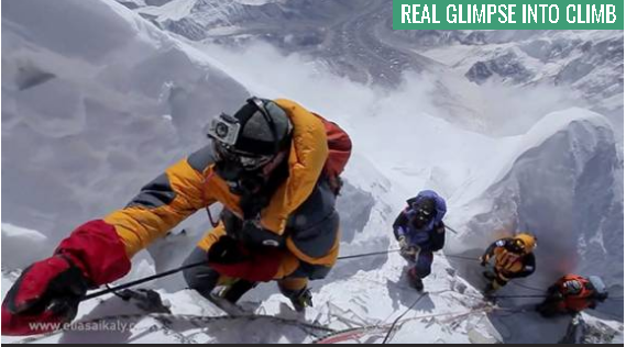 Filmaker faced life-threatening conditions to document Everest's summit