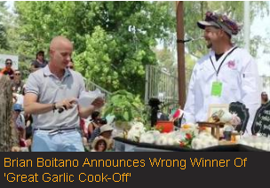 Brian Boitano announces wrong winner of 'Great Garlic Cook-off'