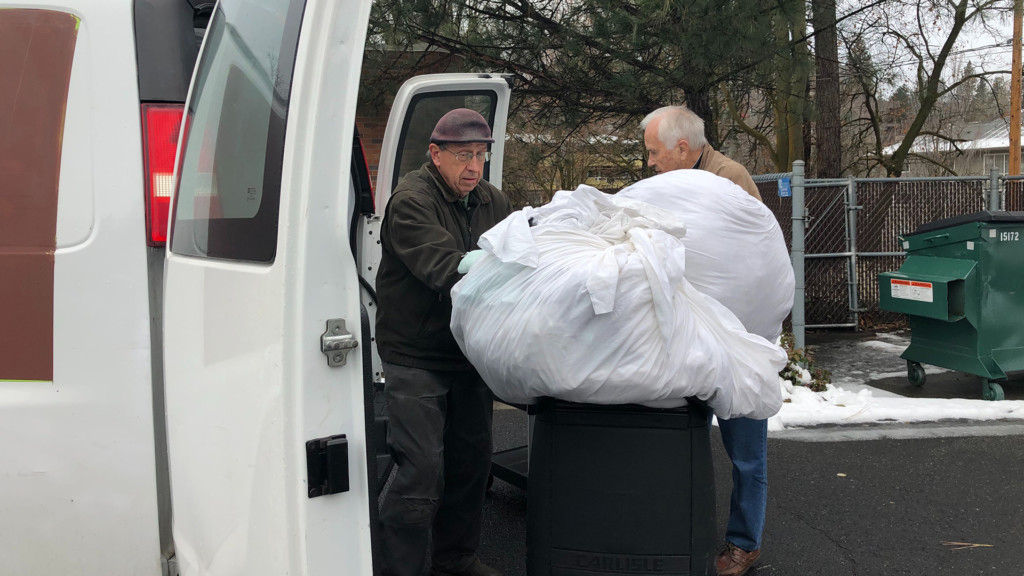 Spokane man re-purposes old linens for those in need