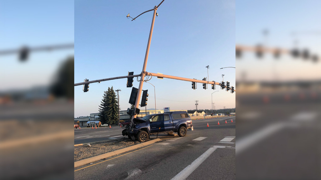 Damage left by DUI crash on Hwy 95 in CDA will impact traffic for months