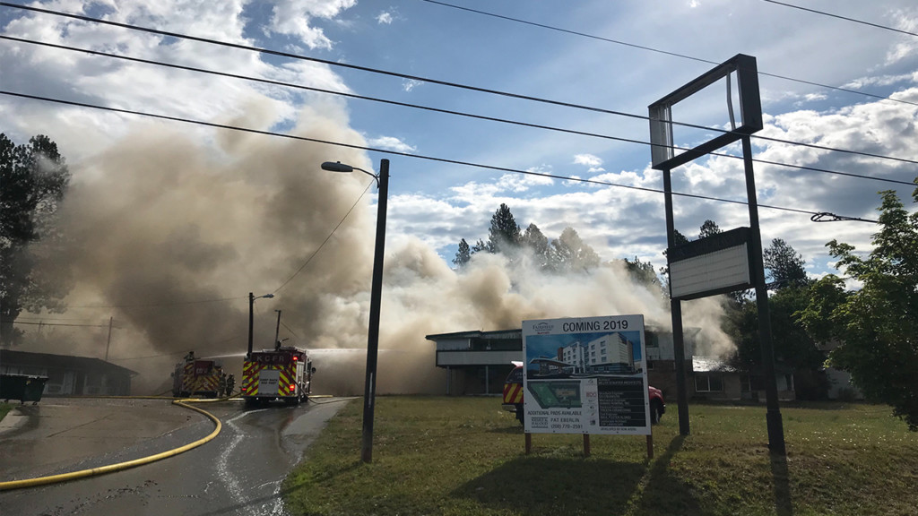 Vacant motel catches fire near downtown Coeur d'Alene