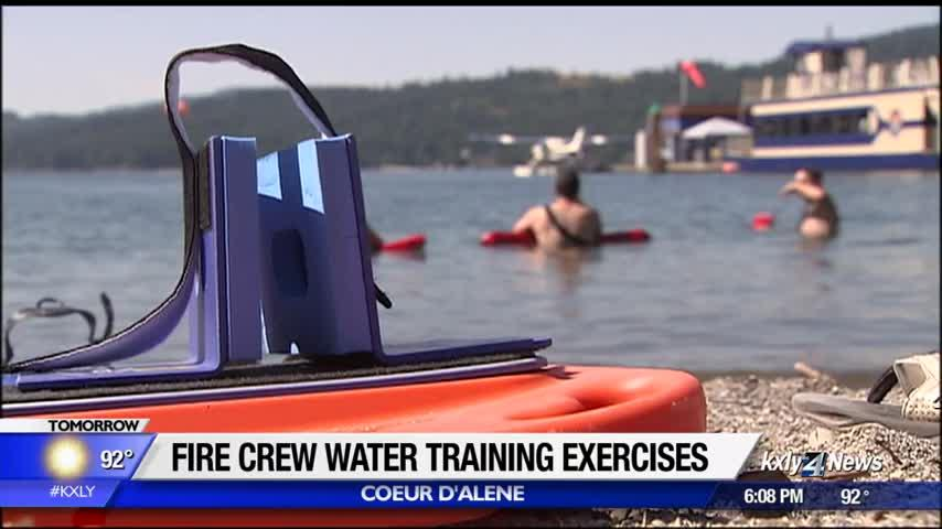 Cd'A Fire Department trains in water rescues