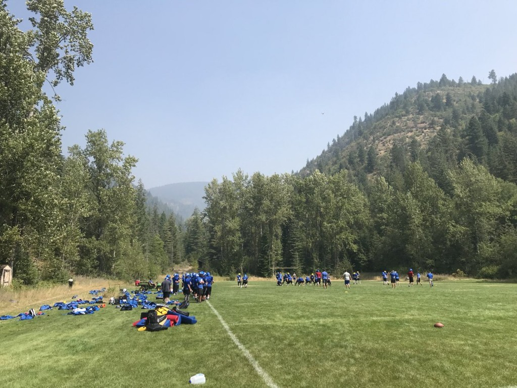 Coeur d'Alene football team practices in Kellogg for better air quality