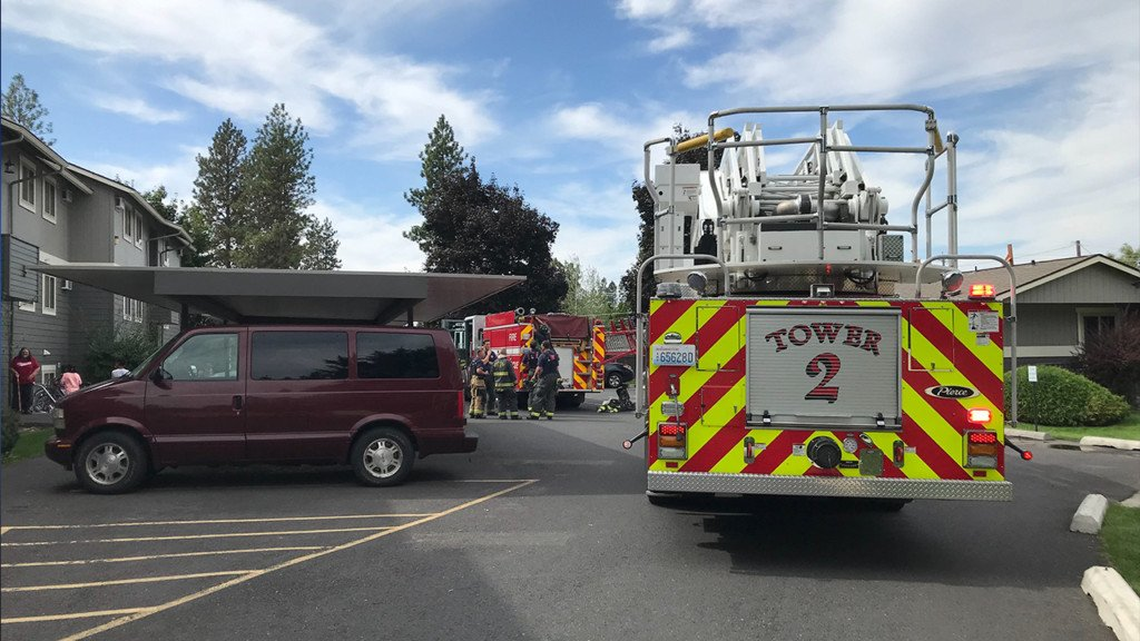 Spokane Fire responds to reports of smoke at Cedar West Apartments