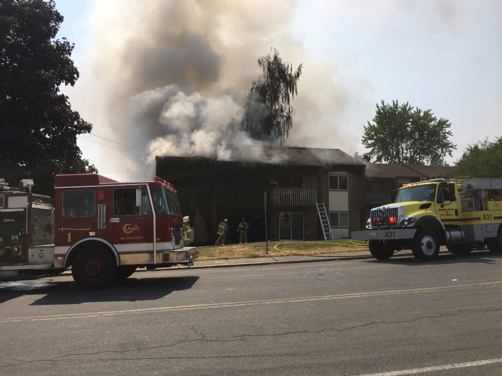 Fire damages apartments in Cheney
