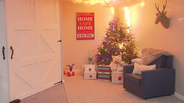 HappyLife: Christmas tree fire prevention
