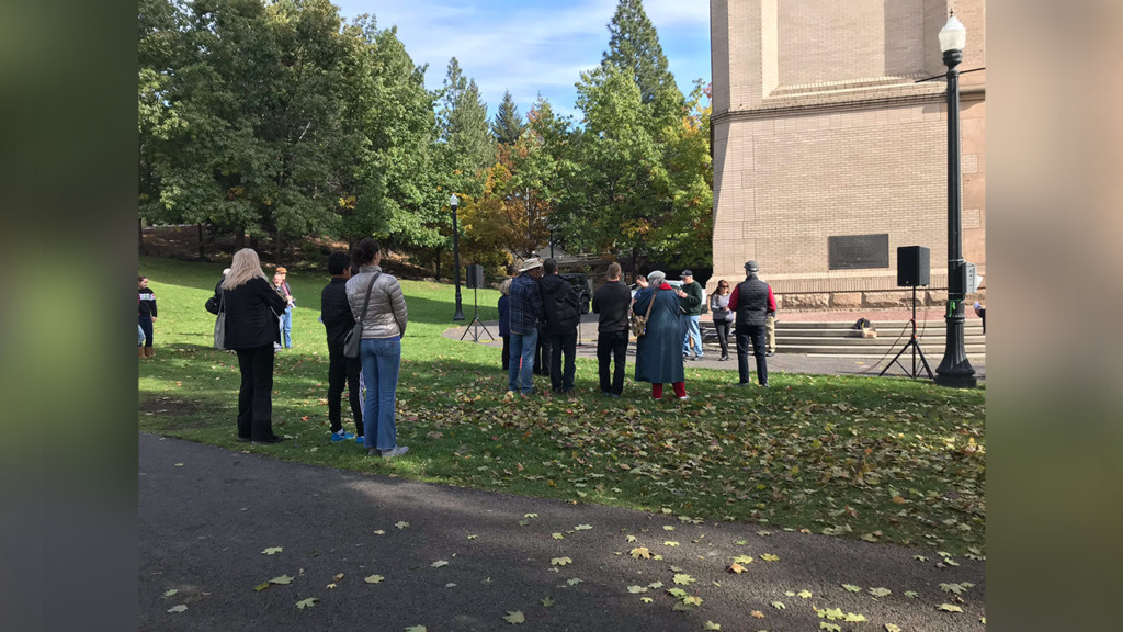 The Church at City Hall holds 'worship service' ahead of Spokane election