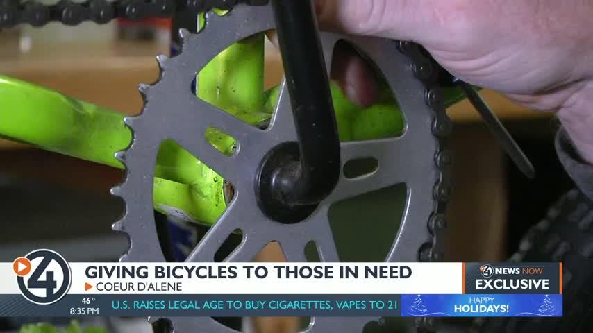 Coeur d'Alene non-profit fixes up donated bikes for those who can't afford them