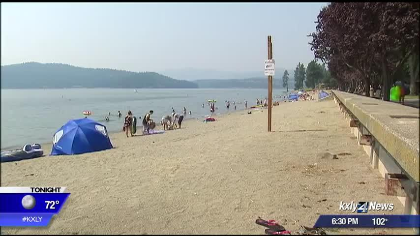 Coeur d'Alene residents hit the lake to cool off in triple-digit temperatures
