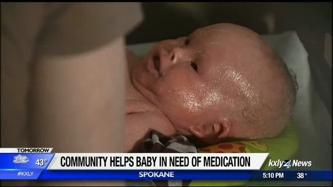 Community helps baby in need of medication