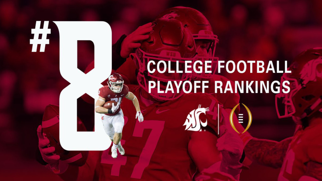 Cougars hold steady at No. 8 in fourth release of College Football Playoff rankings