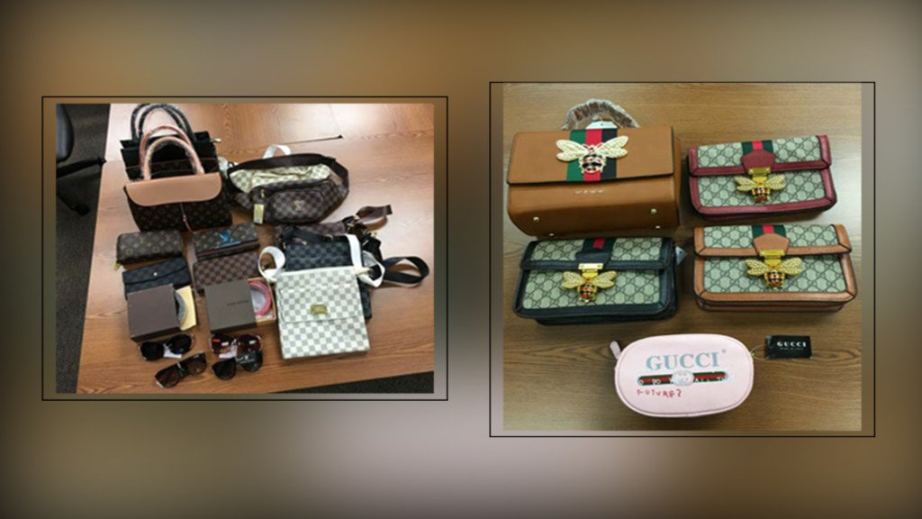 Driver caught trying to bring fake designer bags, wallets into Canada from Idaho