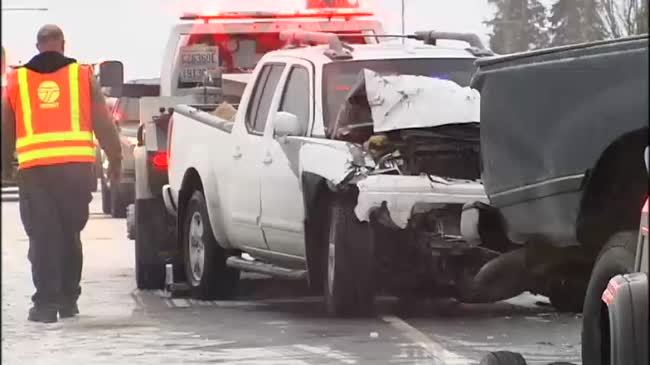 Crash on Highway 395 shows need for winter driving safety