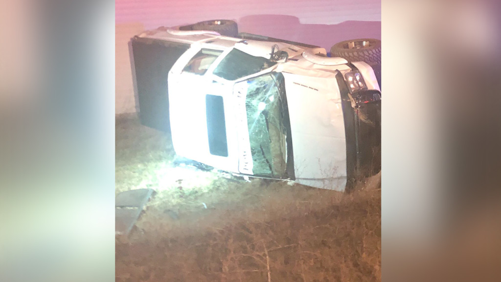Driver escapes rollover crash with minor injuries