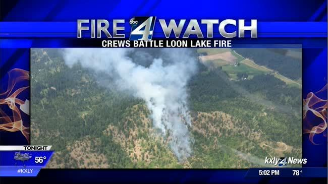Crews battling 14 acre wildfire near Loon Lake