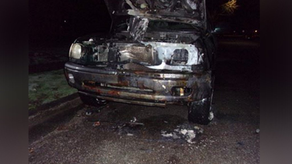 Crime Stoppers offering cash reward for information leading to CDA vehicle arsonist