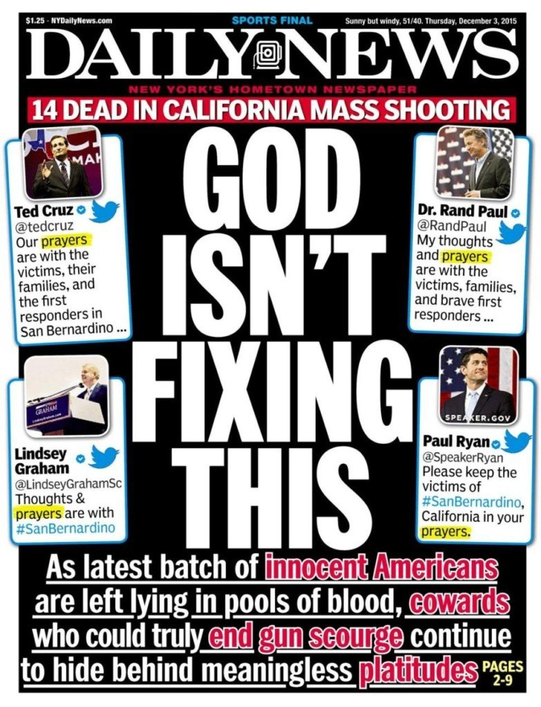 Sound Off for December 3rd: NY Daily News cover provokes national conversation. What are your thoughts?