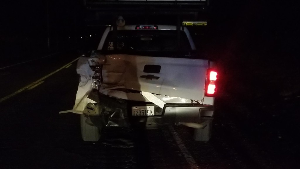 Suspected DUI driver hits WSDOT truck