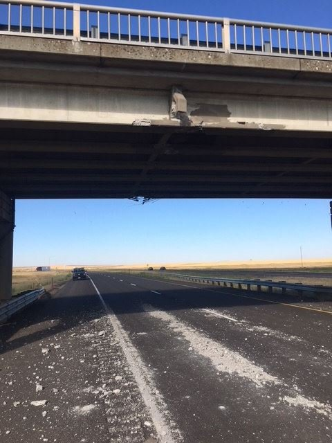 Crews begin to repair damaged bridge near Ritzville