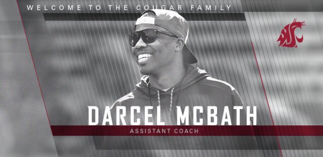 Cougars hire Darcel McBath as assistant football coach