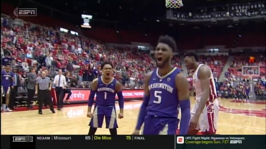 Washington State struggles to score late, Huskies take season sweep