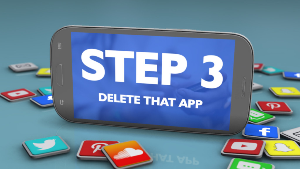 Cell Block Challenge Step Three: Delete That App