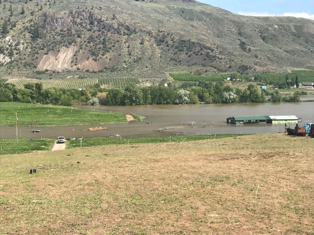 Homes take on water in Okanogan County; flooding approaches historic levels