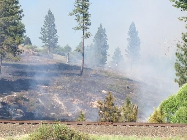 Brush fires near Dishman Mica Road fully contained