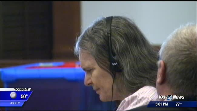 Donna Perry faces victims' families in trial