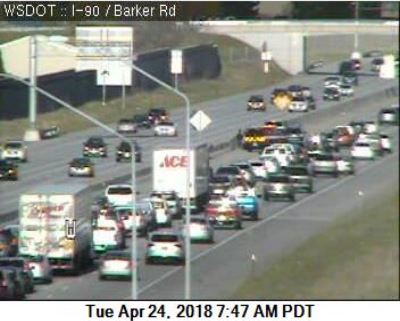 Collisions cause morning back-up on I-90 westbound through Spokane Valley
