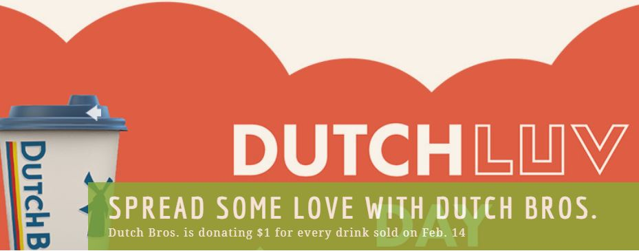 Dutch Bros donating a dollar from every drink today to Second Harvest