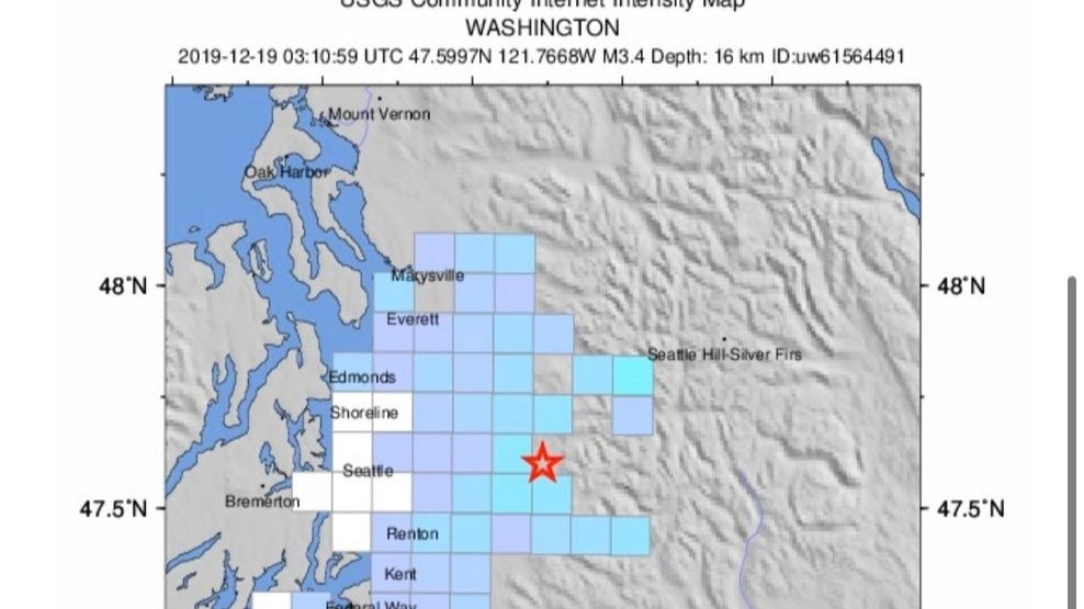 Two magnitude 3 earthquakes reported near Snoqualmie since Wednesday night