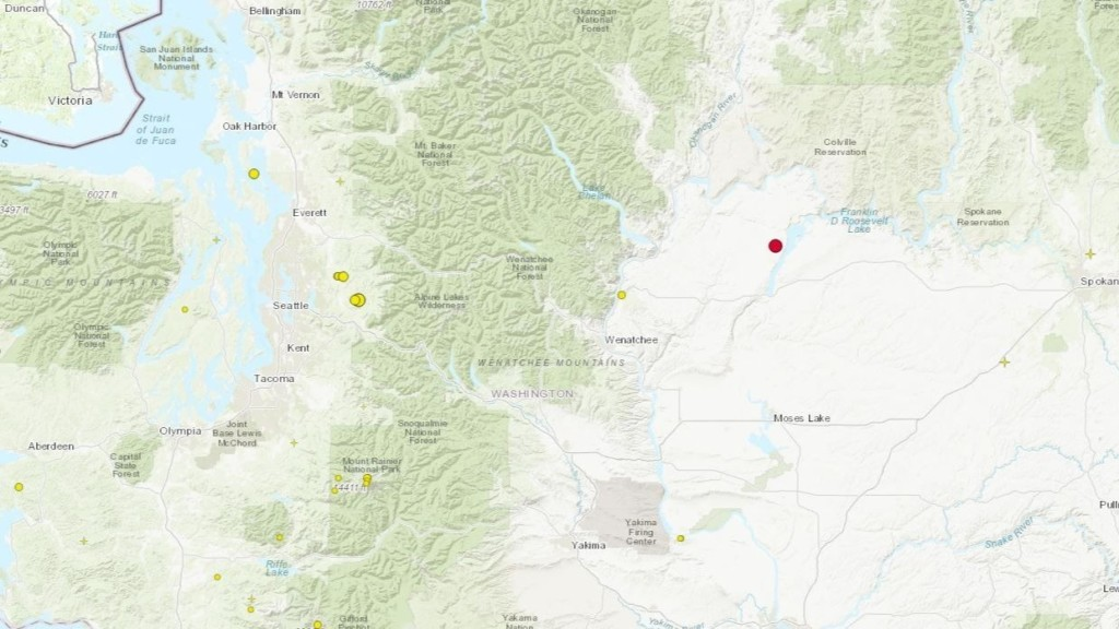 3.5-magnitude earthquake reported near Coulee City