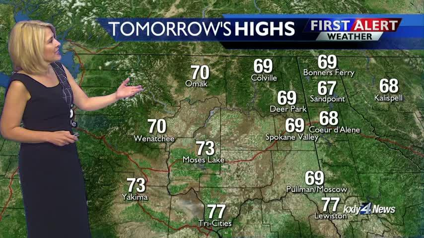 Cooler weather expected over the weekend