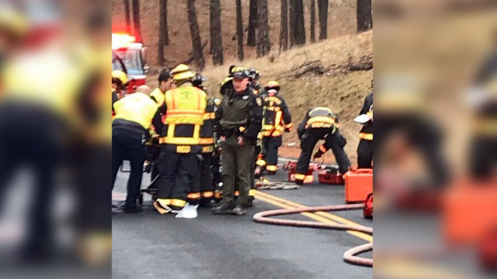 Portion of Hangman Valley Road reopens following rollover crash