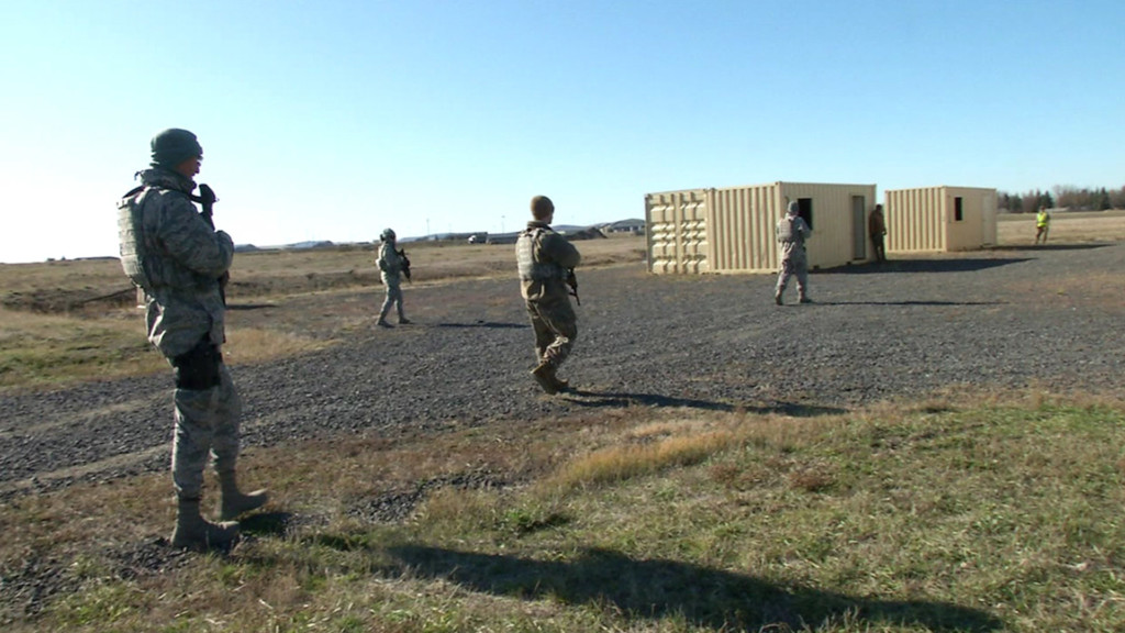 Training to be a security force airmen at Fairchild Air Force Base