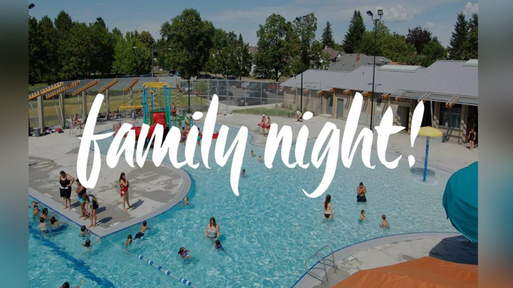 Family night at A.M. Cannon Aquatic Center