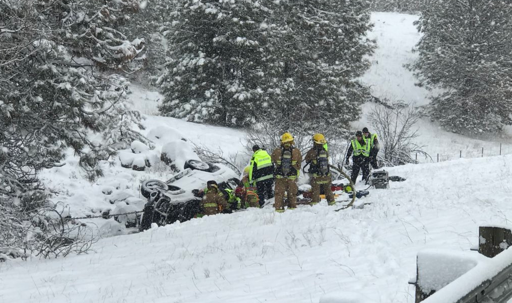 Driver dead in rollover accident on I-90, near Cheney-Tyler exit