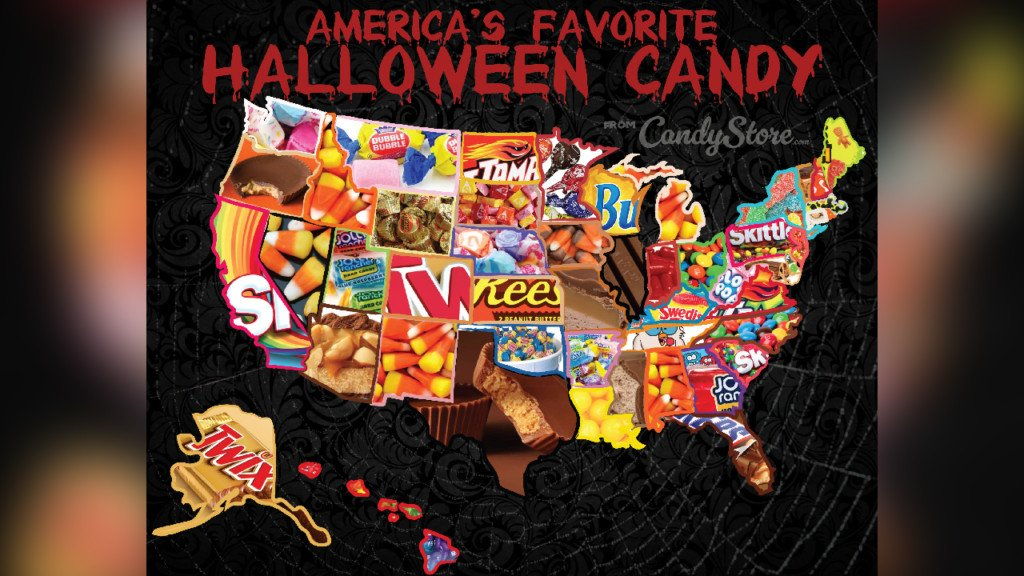 Here is each state's favorite Halloween candy this year