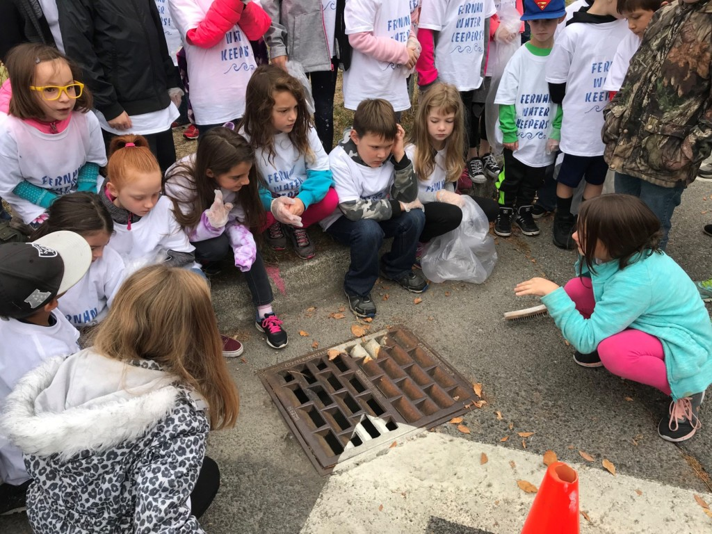 Field trip to storm drains for STEM students
