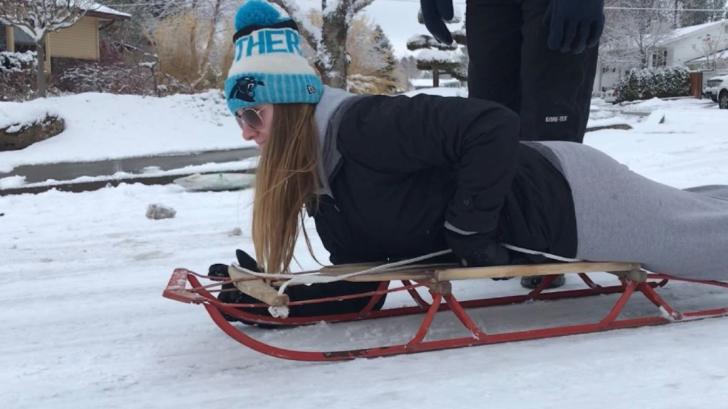 Spokane families have some fun in the fresh snow